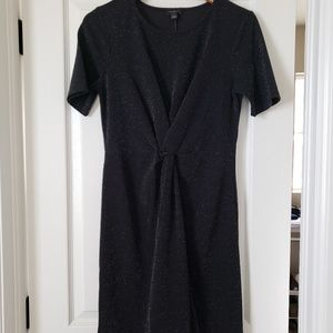 Ann Taylor sparkly black dress